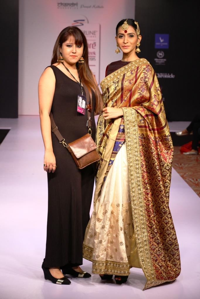 Chandri Mkherjee with model