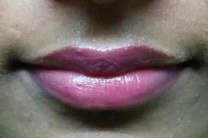 Swatch of Lakme Lip Love Cherry Shade