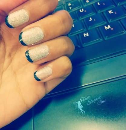 Nails with Maybelline GlitterMania5