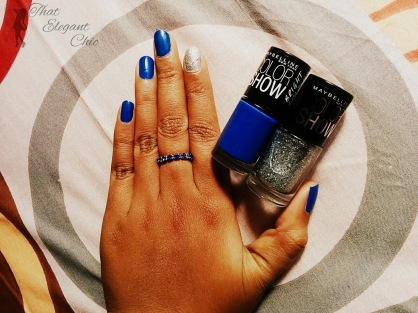 Nails with Maybelline GlitterMania