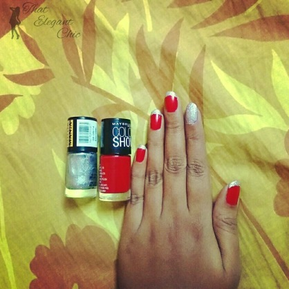 Nails with Maybelline GlitterMania4